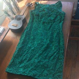 VIBRANT GREEN LACE DRESS YASSS